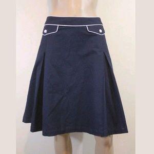 Isaac Mizrahi Blue Full A-line Pleated Skirt SZ 14